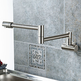 kitchen faucets cheap ikea oak cabinets online for 2019 faucet single handle one hole nickel brushed pot filler centerset contemporary modern