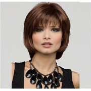 synthetic wig straight bob haircut