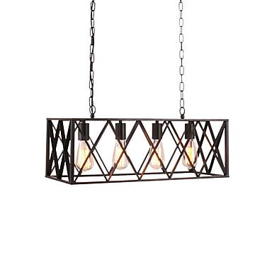 OYLYW 4-Light Pendant Light Ambient Light Metal Mini Style