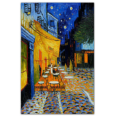 The Caf Terrace on the Place du Forum Arles at Night c