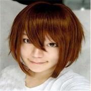 cartoon color wig brown