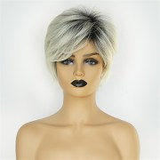 synthetic wig natural straight