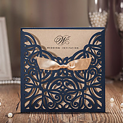 Flat Card Wedding Invitations 50 Invitation Cards Artistic Style Vine Flora Paper