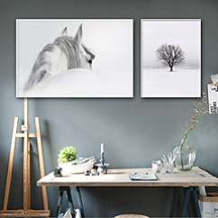 Art In Living Room Small Modern Cheap Wall Online For 2019 Landscape Animals Illustration Plastic Material With Frame Home