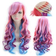 synthetic wig curly style middle