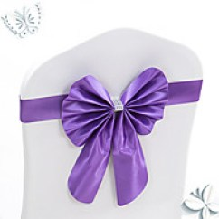 Holiday Decorative Chair Covers Kids Desk Chairs Cheap Decorations Online For 2019 10pcs Stretch Bowknots Sashes Wedding Back Elastic Bows