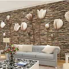 Cheap Wall Art For Living Room Decor Ideas With Grey Sofa Online 2019 Large 3d Stereo Wallpaper Mural Simple Flower Stone Bedroom Tv Background Wallcoving448 280cm