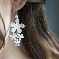 Easy to Make DIY Lace Earrings