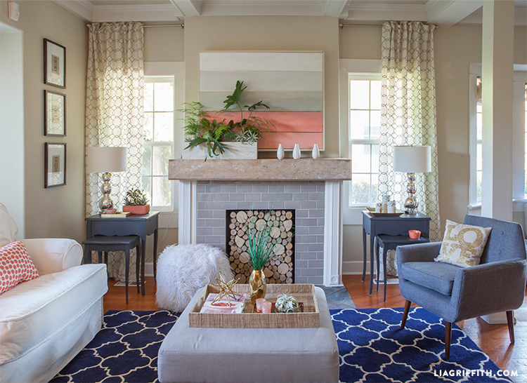 wayfair furniture sofa knislinge cover lia griffith | coral living room update for summer