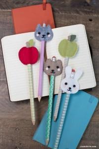 Kid's Felt Pencil Toppers - Lia Griffith