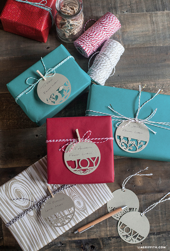 Diy gift tags for your holiday gifts. Paper Cut Holiday Gift Tags Lia Griffith
