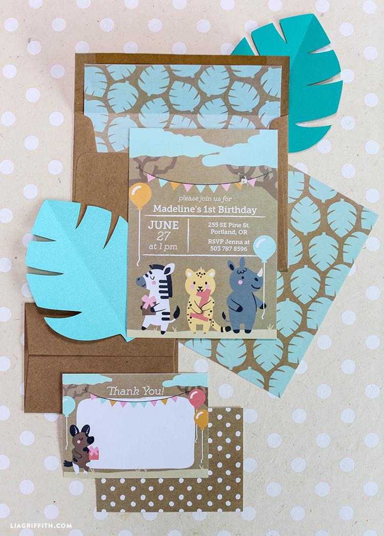 safari themed printable birthday