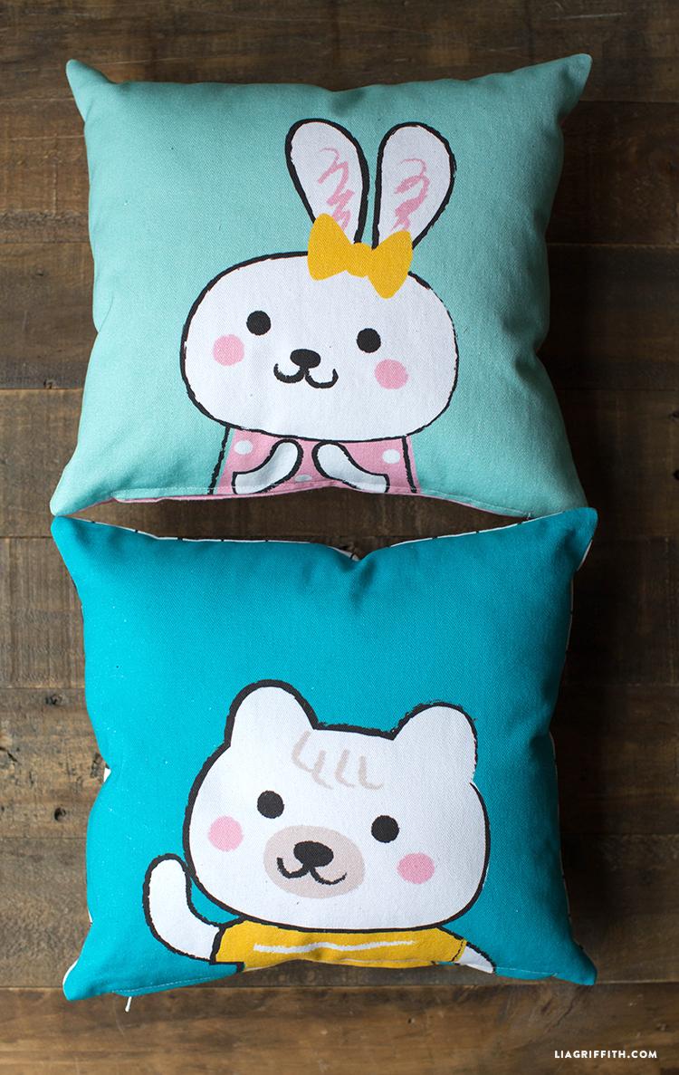 easy canvas kids pillows lia griffith