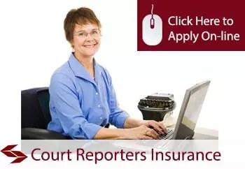 court reporters public liability insurance