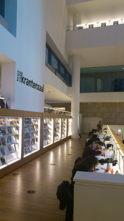 Inside the Public Library, Amsterdam. Here you can find any magazine you can think of!