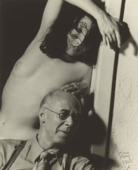 Henry Miller, 1942, with Margaret wife of artist Gilbert Neiman whom Miller stayed with when he arrived in LA
