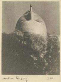 Woman smoking a cigarette, 1920