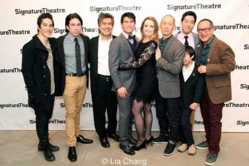 Cole Horibe, Jon Rua, David Henry Hwang, Christopher Vo, Phoebe Strole, Francis Jue, Peter Kim, Bradley Fong and Alan Muraoka. Photo by Lia Chang