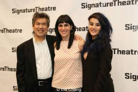 Kung Fu playwright David Henry Hwang, director Leigh Silverman and choreographer Sonya Tayeh. Photo by Lia Chang