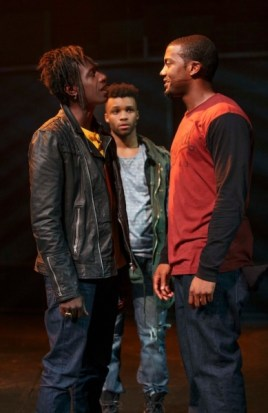 Saul Williams, Dyllon Burnside and Joshua Boone. Photo by Joan Marcus