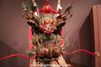 "A majestic head of a ceremonial dragon, purchased from China by the Chinese American community in Marysville, California in the 1880s. The dragon, ""Moo Lung,"" traveled throughout the U.S. for cultural events, visiting New York City in 1911, and has been restored. Photo by Lia Chang"