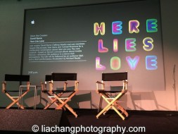 Here Lies Love event at the Apple Store Soho in New York on October 25, 2014. Photo by Lia Chang