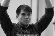 Telly Leung in rehearsal for The World of Extreme Happiness at Manhattan Theatre Club in New York on January 27, 2015. Photo by Lia Chang