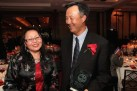 Judge Doris Ling-Cohan and 2015 Justice in Action honoree John Kuo at the Asian American Legal Defense and Education Fund's lunar new year gala at Pier Sixty at Chelsea Piers in New York on February 23, 2015. Photo by Lia Chang