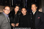 Jeff Yang, guest, Melvin Mar and Richard Lui at the #FreshOffTheBoat Viewing Party at The Circle NYC on February 4, 2015. Photo by Lia Chang