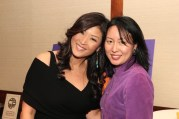 Juju Chang and Met curator Soyoung Lee at the Asian American Legal Defense and Education Fund's lunar new year gala at Pier Sixty at Chelsea Piers in New York on February 23, 2015. Photo by Lia Chang