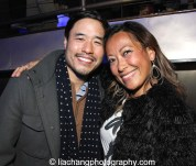 Randall Park and Maria Ho-Burge at The #FreshOffTheBoat Viewing Party at The Circle NYC on February 4, 2015. Photo by Lia Chang