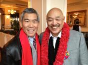 Robert Mah and Russell Chang at his 70th birthday party on December 15, 2012. Photo by Lia Chang