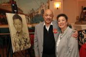 Russell Chang and his cousin Toby at his 70th birthday party on December 15, 2012. Photo by Lia Chang