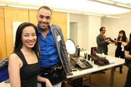 Lia Chang and Blue Michael of Blue Michael Cosmetics at the 72 Hour Shootout Launch party at The Korea Society in New York on June 4, 2015. Photo by Lia Chang