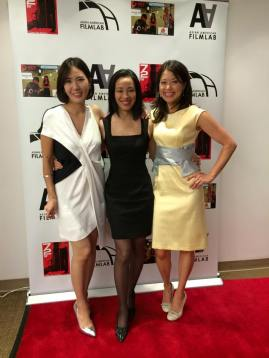 72 Hour Shootout coordinator Youn Jung Kim, Lia Chang, Asian American Film Lab president Jennifer Betit Yen at the 72 Hour Shootout Launch party at The Korea Society in New York on June 4, 2015. Photo by GK