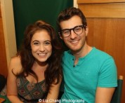 Emily Mechler and Matt Dengler attend 'The Visit' Broadway cast performance and CD signing at Barnes & Noble, 86th & Lexington on July 9, 2015 in New York City. Photo by Lia Chang