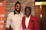 Rashaad Hall and André De Shields at the opening night party of Victory Gardens Theater's 2015 IGNITION Festival of New Plays in Chicago on July 16, 2015. Photo by Lia Chang