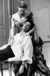 Frances Conroy and Rogers Rees in the Roundabout's 1996 revival of Jean Anouilh's The Rehearsal. Photo by Joan Marcus