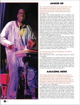 Living Colour Drummer Will Calhoun profiled in Drumhead Magazine. Photo by Lia Chang