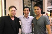 Dax Phelan, Jason Tobin and Byron Mann attend the #AAIFF2015 screening of Jasmine at Village East Cinema in New York on July 30, 2015. Photo by Lia Chang
