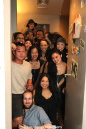 Cast members of The King and I backstage at the Vivian Beaumont Theater after The Actors Fund Special Performance of The King and I on September 20, 2015. Photo by Lia Chang