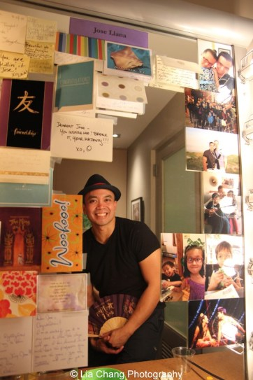 Jose Llana in his dressing room at the Vivian Beaumont Theater after The Actors Fund Special Performance of The King and I on September 20, 2015. Photo by Lia Chang