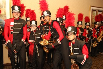 LVHS Marching Band members at the 2015 37th Anniversary - Annual Wildcat Reunion at The Orleans Hotel and Casino in Las Vegas, NV on September 26, 2015. Photo by Lia Chang