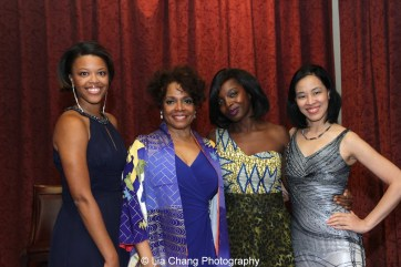 Alana Barrett-Adkins, Denise Burse Fernandez, MaameYaa Boafo and Garth Kravits attend the 30th anniversary benefit gala of Beth-Hark Christian Counseling Center, Inc. at Terrace on the Park in Flushing Meadows Park, NY on October 9, 2015. Photo by GK