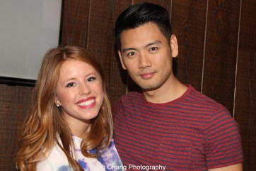Original Allegiance cast members Allie Trimm and Karl Josef Co at the first preview of Allegiance at the Longacre Theatre in New York on October 6, 2015. Photo by Lia Chang