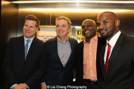 Bill Rauch, James Houghton, Ty Jones and Jimmy Keys attend the 2015 Steinberg Playwright Awards on November 16, 2015 in New York City. Photo by Lia Chang