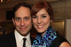 A Drowsy Chaperone reunion for Garth Kravits and Mara Davi at the 2015 Steinberg Playwright Awards on November 16, 2015 in New York City. Photo by Lia Chang