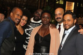 Keith Josef Adkins, Lileana Blain - Cruz, Brian Henry, Jocelyn Bioh, Austin Durant, Jason Dirden attend the 2015 Steinberg Playwright Awards on November 16, 2015 in New York City. Photo by Lia Chang