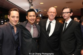 Brennan Brown, Joel de la Fuente, Michael Gaston, D.J. Qualls attend the episode screening and premiere for the Amazon Originals Series 'The Man in the High Castle' at Alice Tully Hall on November 2, 2015. Photo by Lia Chang