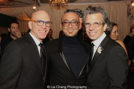 Floyd Sklaver, Paul Nakauchi and Marc Acito at the opening night party of ALLEGIANCE on November 8, 2015. Photo by Lia Chang